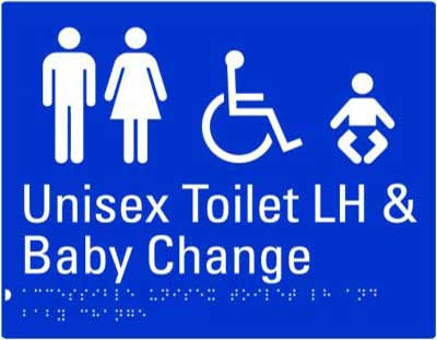 Unisex Accessible Toilet LH + Baby Change