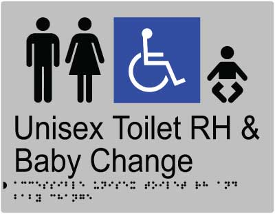 Unisex Accessible Toilet RH + Baby Change