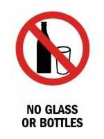 No Glass or Bottles